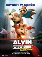 Plakat filmu Alvin i wiewiórki: Wielka wyprawa / Alvin and the Chipmunks: The Road Chip (2015) ENG